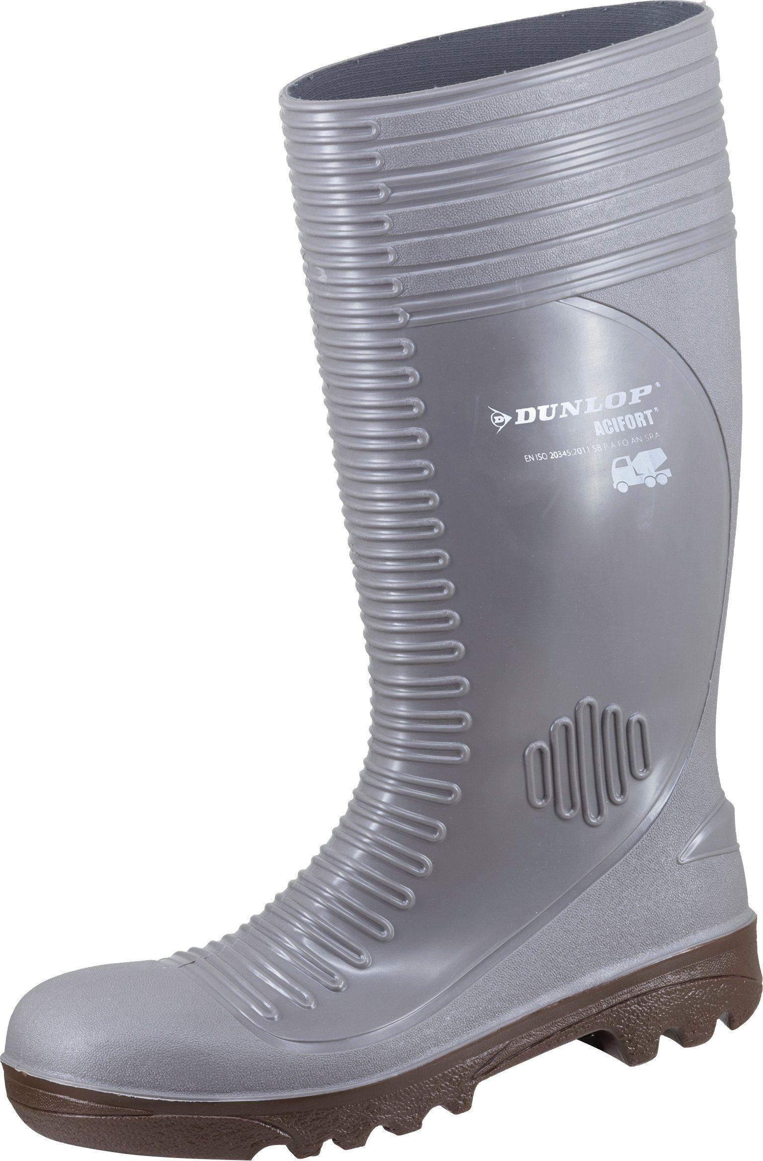 Unisex DUNLOP Sicherheitsstiefel »Concrete full safety«, Sicherheitsklasse S5 grau | 08713197359227