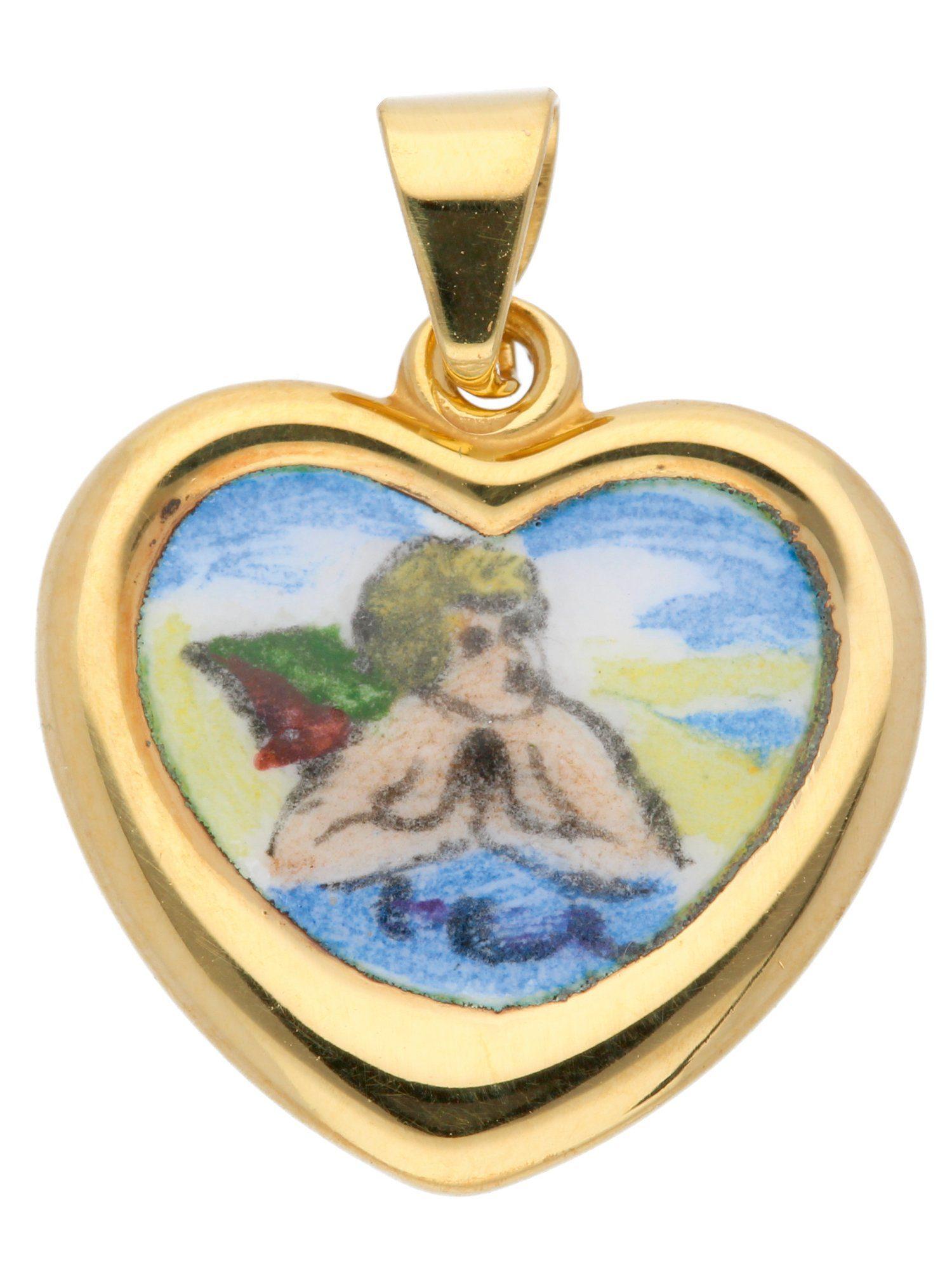 Adelia´s Kettenanhänger »Gold Anhänger«, 14 k 585 Amor