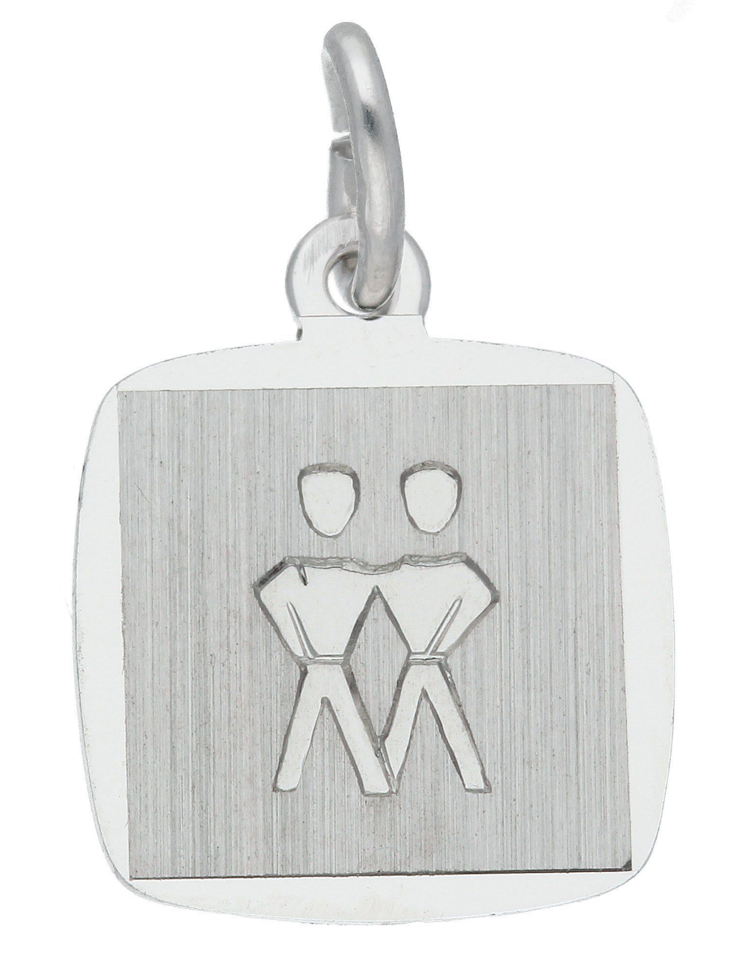 Adelia´s Kettenanhänger »Sternzeichen Silber Anhänger«, Zwilling