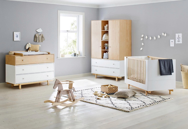 Pinolino Babyzimmer-Set (3-tlg.), Kinderzimmer, »Boks, breit/groß«