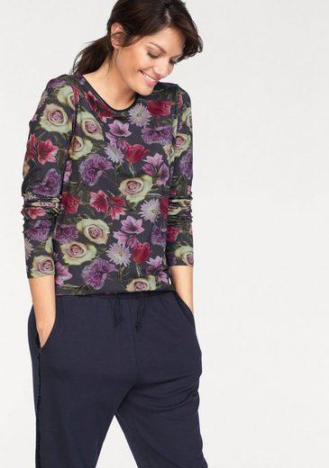 Blue Seven Print-Shirt mit floralem Allover Print