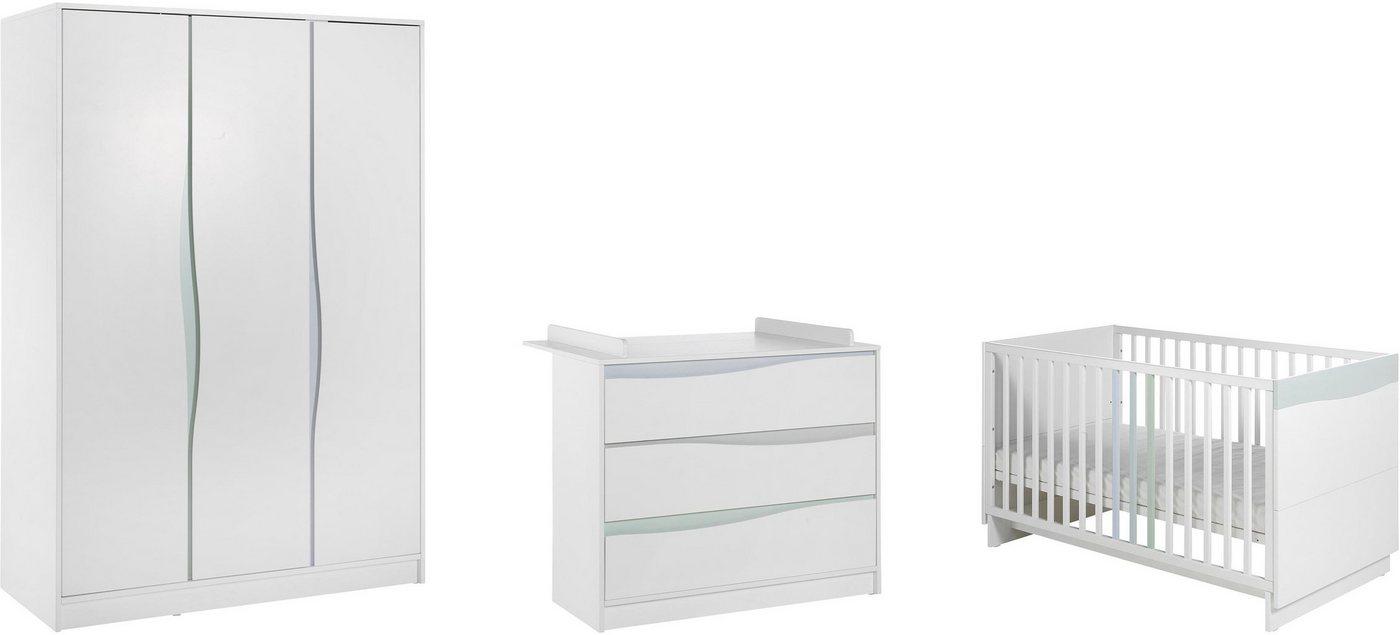 Geuther Babyzimmer Set (3-tlg.) Kinderzimmer, »WAVE, Pastell« | Kinderzimmer > Babymöbel > Komplett-Babyzimmer | Weiß | Geuther