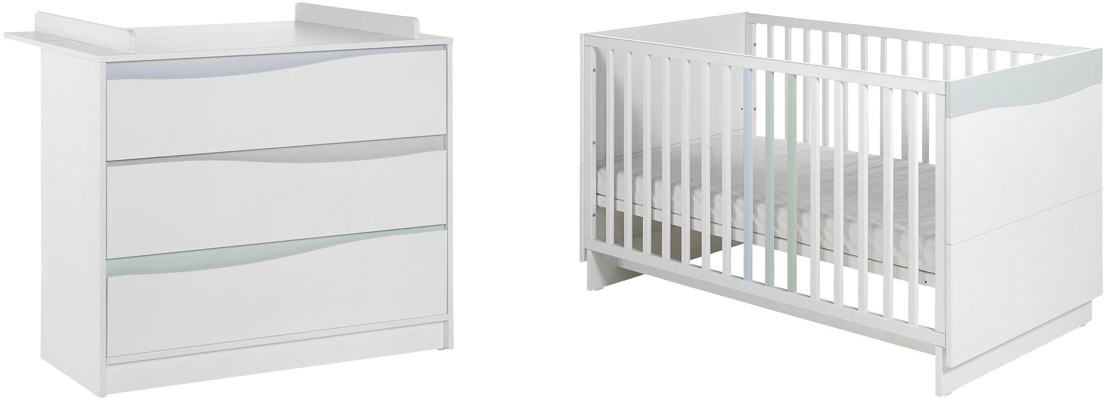 Geuther Babyzimmer Set (2-tlg.), »WAVE, Pastell«