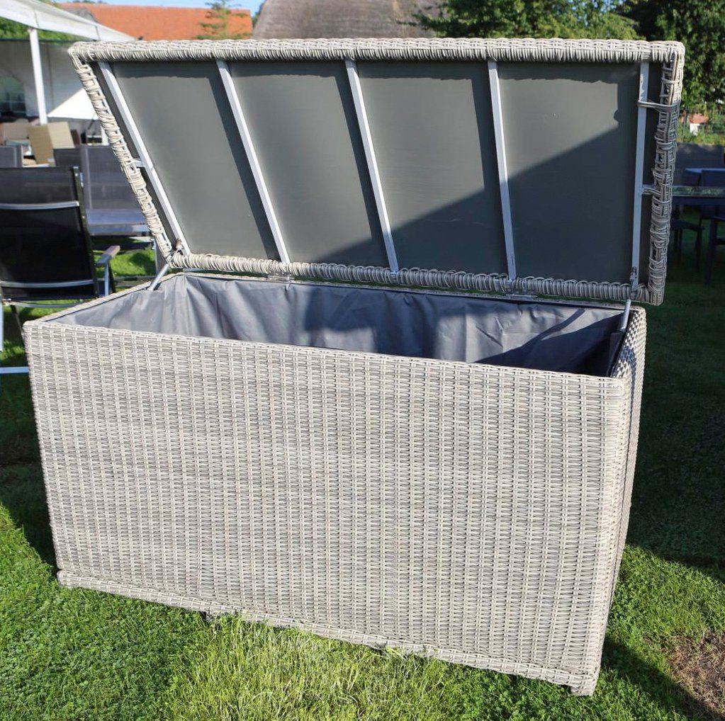 DESTINY Kissenbox »CASA«, 96x175x90 cm, Polyrattan, weiß