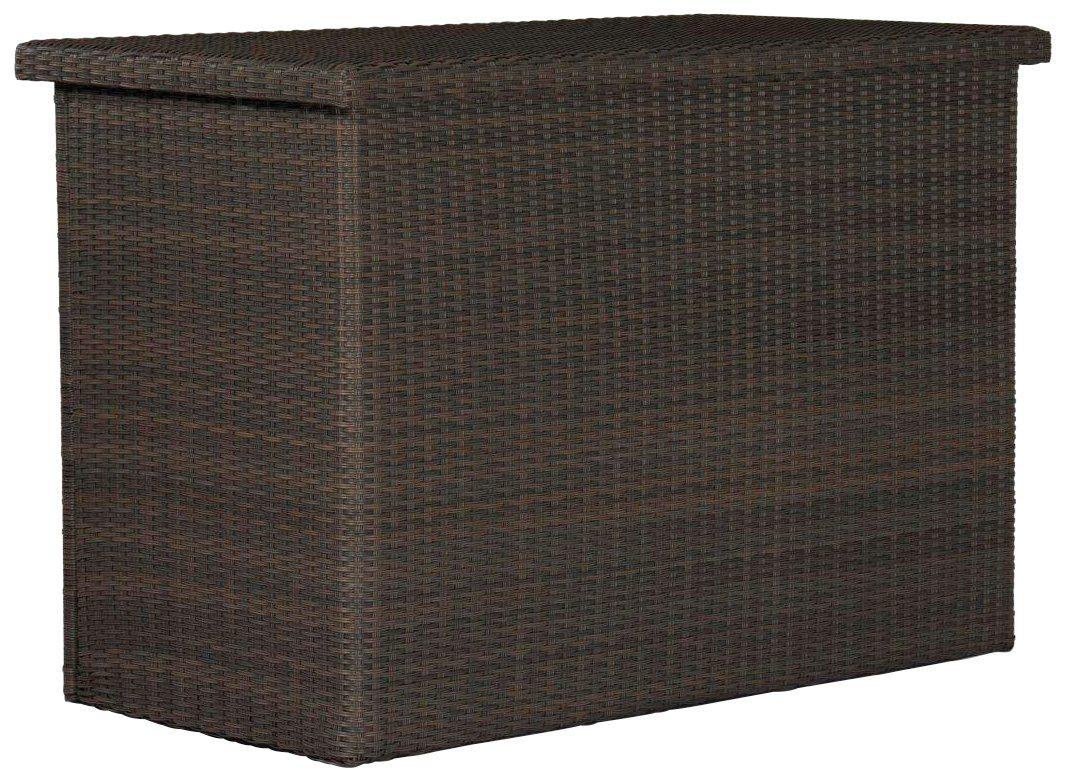 DESTINY Kissenbox »CASA«, 96x175x90 cm, Polyrattan, braun
