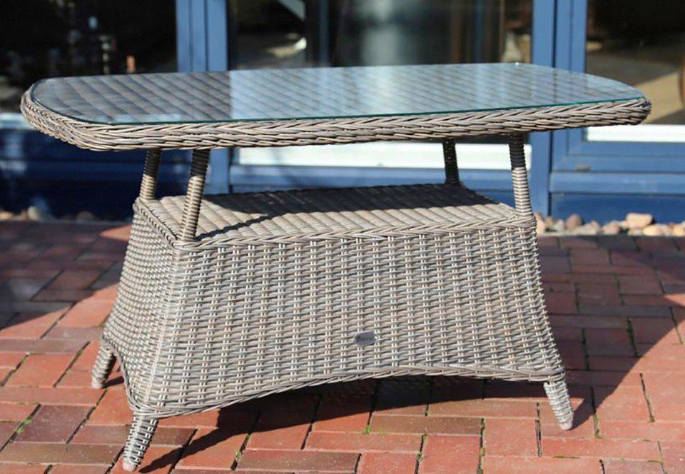 DESTINY Gartentisch »CASA «, Polyrattan, 80x120 cm, grau