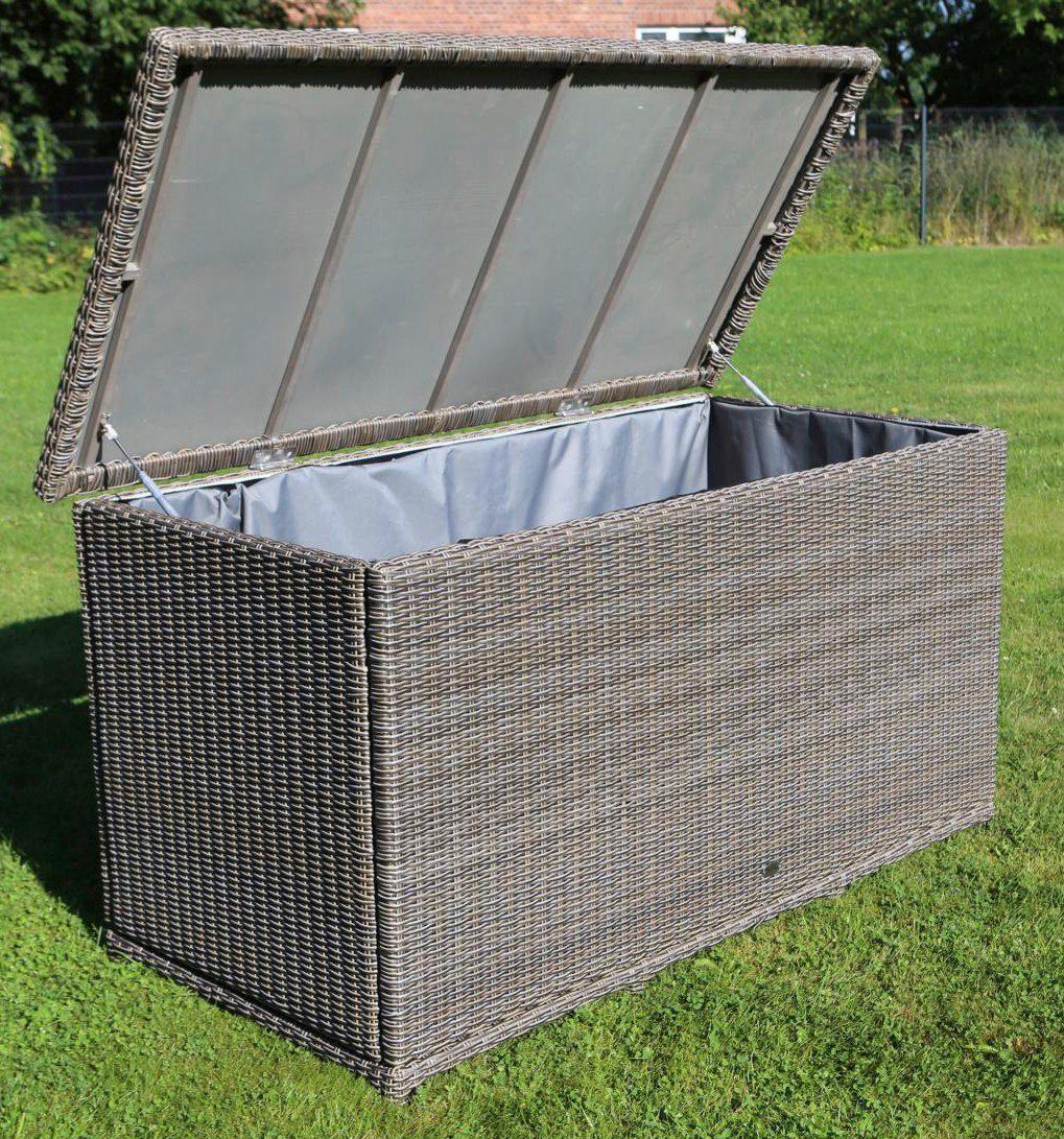 DESTINY Kissenbox »CASA«, 96x175x90 cm, Polyrattan, grau