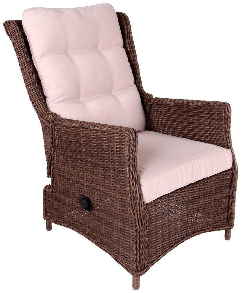 destiny gartensessel casa polyrattan verstellbar inkl auflage online kaufen otto. Black Bedroom Furniture Sets. Home Design Ideas