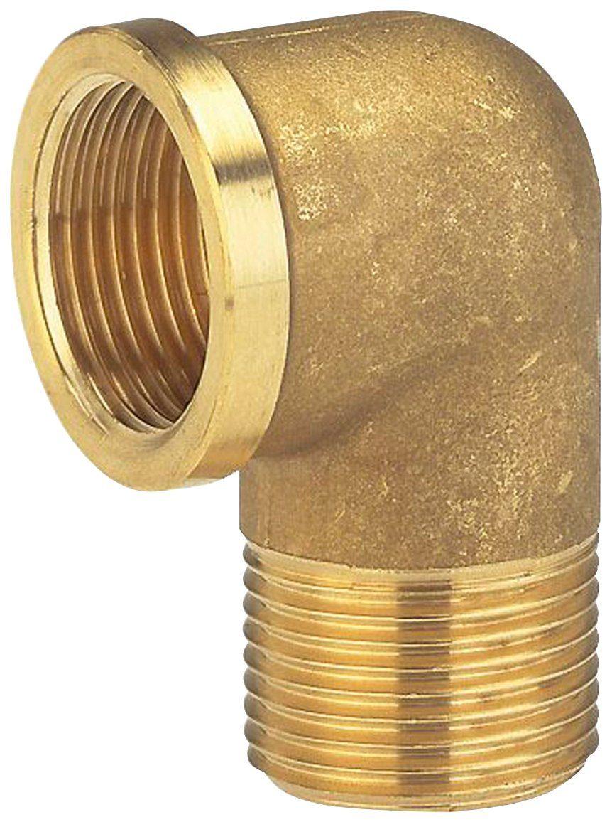 GARDENA Winkelverschraubung , Messing, 42 mm (G 1 1/4)-Innen- und Außengewinde