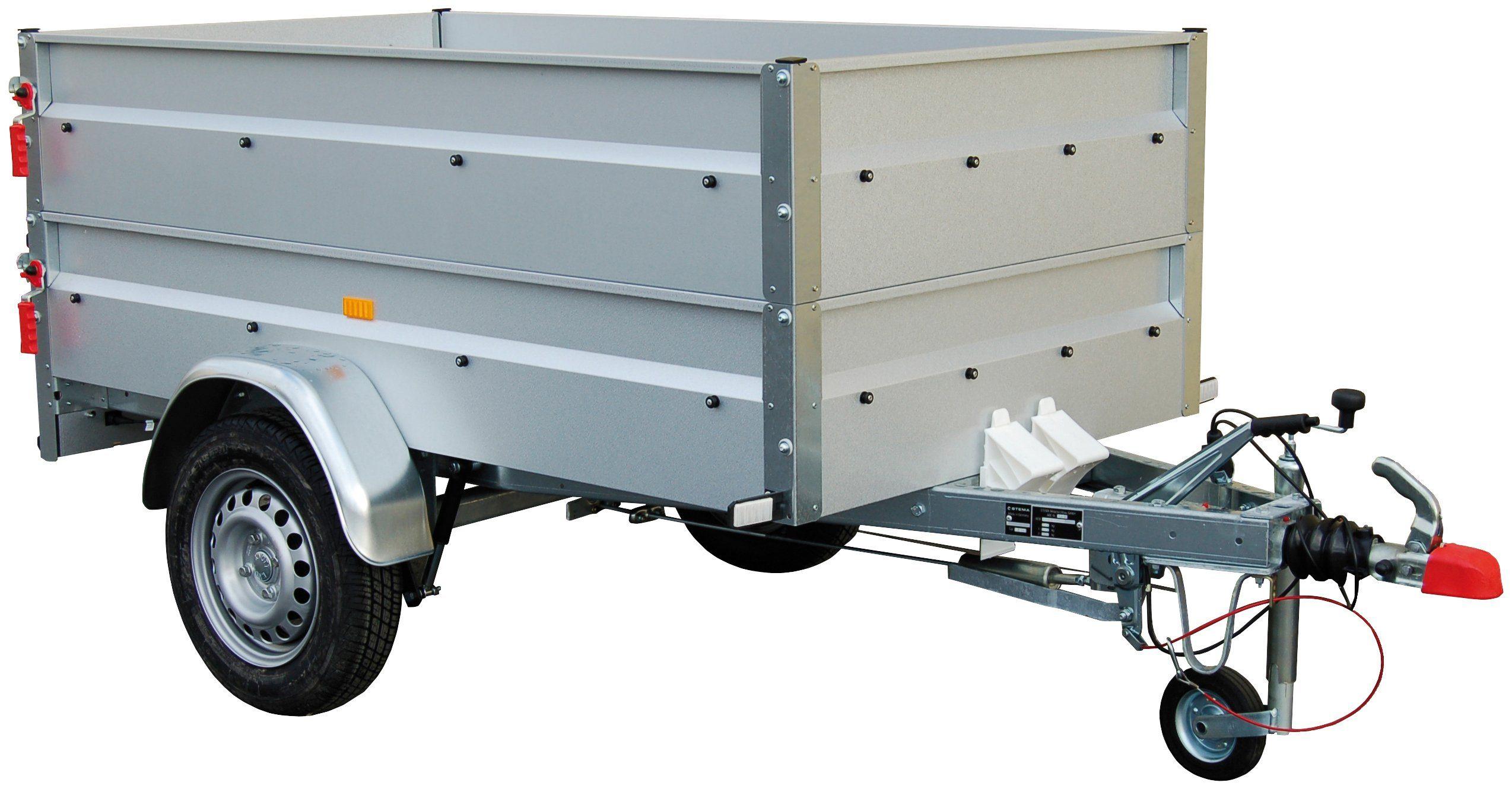 STEMA PKW-Anhänger »BASIC 850 «, inkl.Bordwandaufsatz und Flachplane