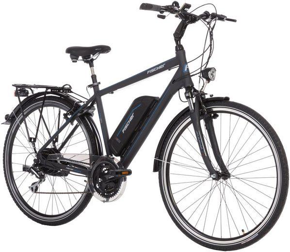 FISCHER FAHRRAEDER E-Bike Trekking Herren »ETH1801«, 71,12 cm (28 Zoll), 24 Gänge, 396 Wh, Heckmotor