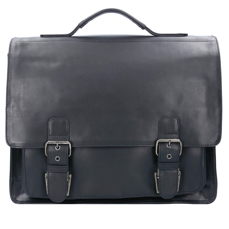Franky Raje Aktentasche Leder 40 cm Laptopfach