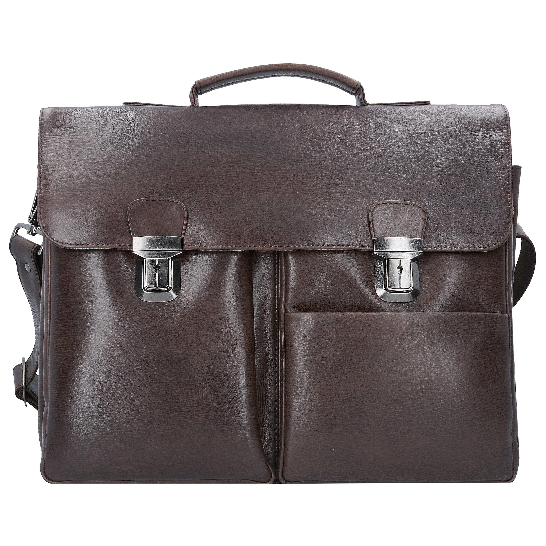 Franky Raje Aktentasche Leder 41 cm Laptopfach