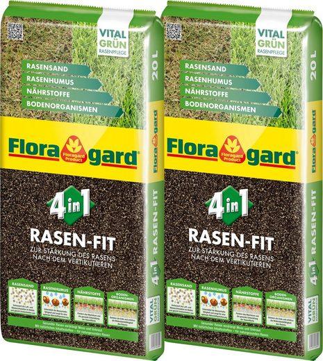 FLORAGARD Rasenpflege »4 in 1 Rasenfit«, 2x20 Liter