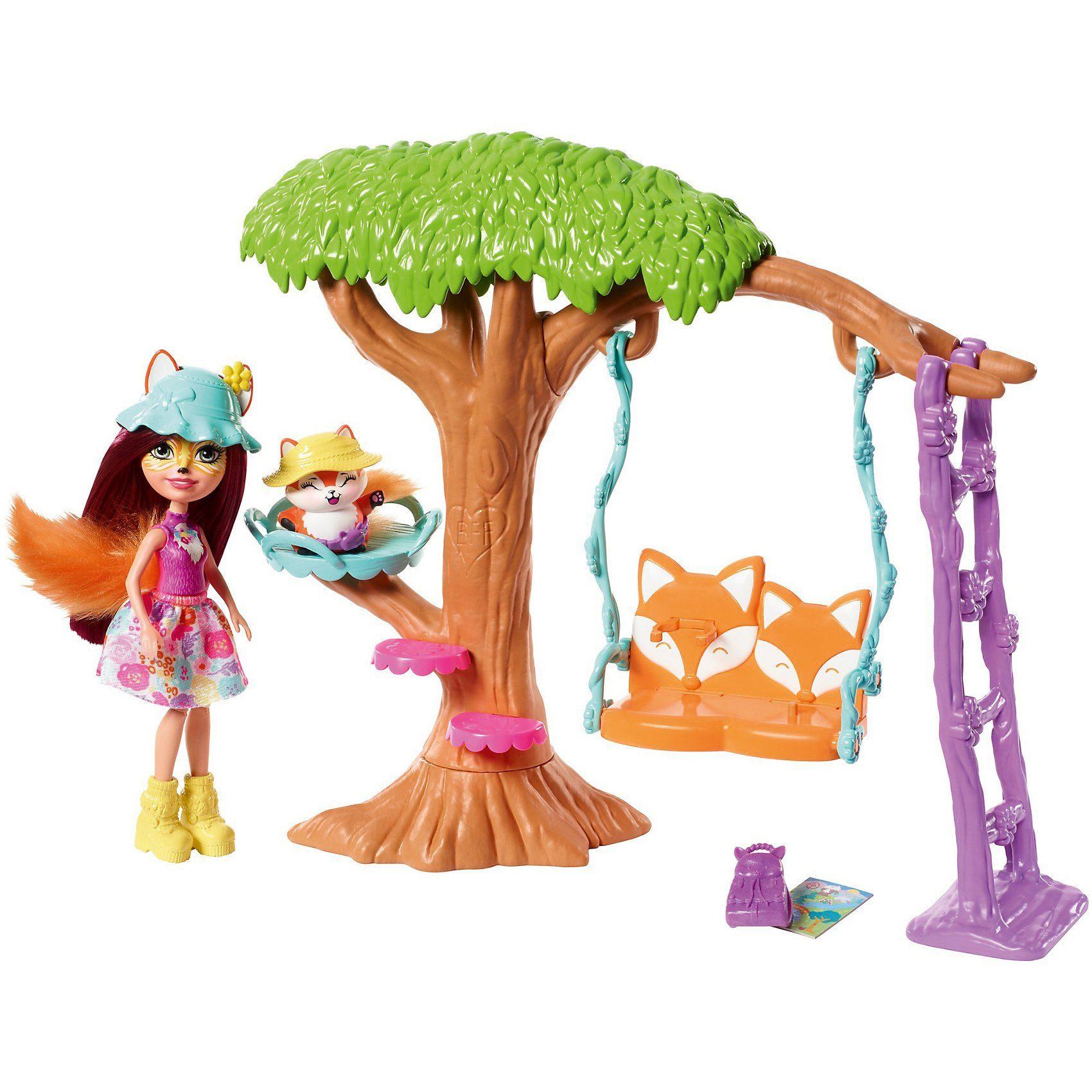 Mattel® Enchantimals Felicity Fox und Flick Spielplatz-Abenteuer