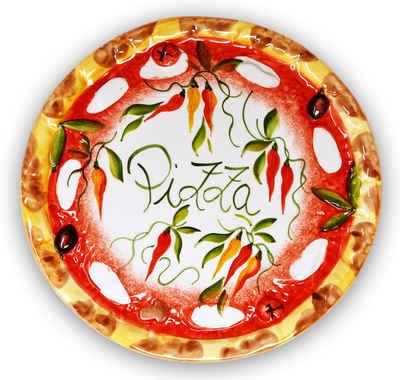 Lashuma Pizzateller »Paprika«, Servierplatte rund, Anrichteteller Ø 33 cm