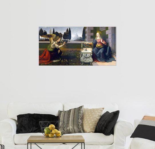 Posterlounge Wandbild - Leonardo da Vinci »Die Verkündigung Mariae«
