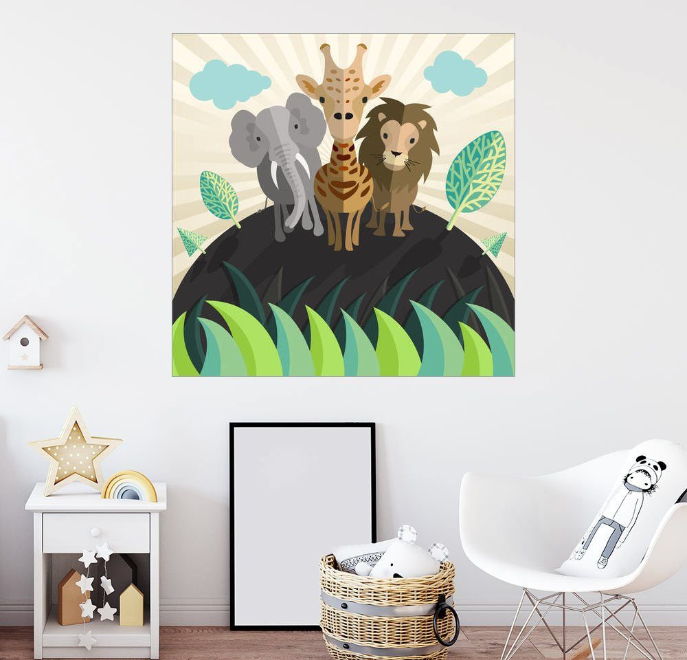 Posterlounge Wandbild - Kidz Collection »Afrikanische Tiere«