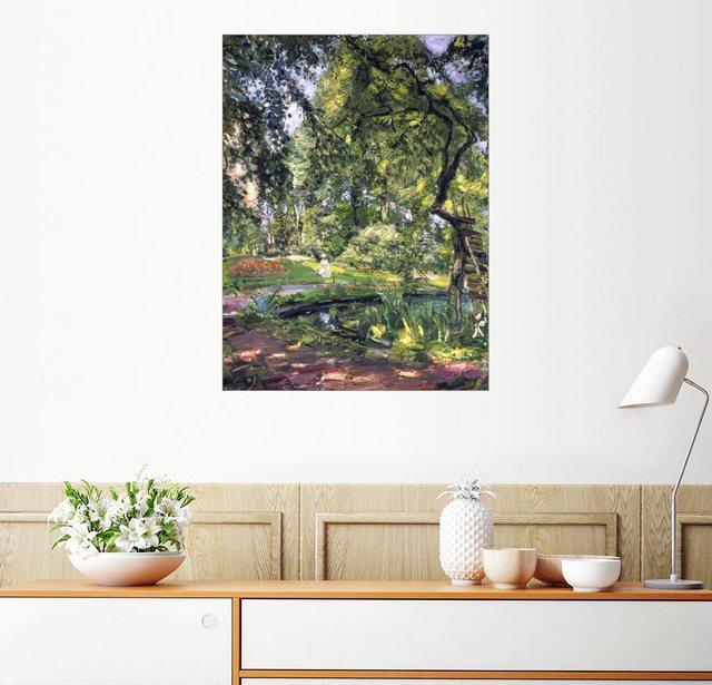 Posterlounge Wandbild - Max Slevogt »Garten in Godramstein mit verwachsenem Baum u...« | Dekoration > Bilder und Rahmen > Bilder | Bunt | Posterlounge