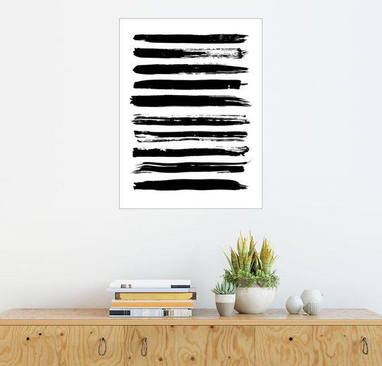 Posterlounge Wandbild »Schwarze Linien auf weiß«