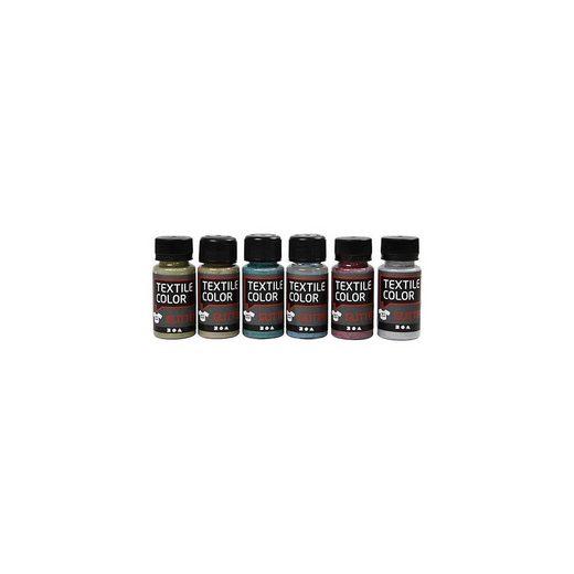 Textile Color Glitter, 6x50ml