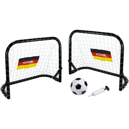 HEIMSPIEL Deutschland Mini Fußballtor-Set