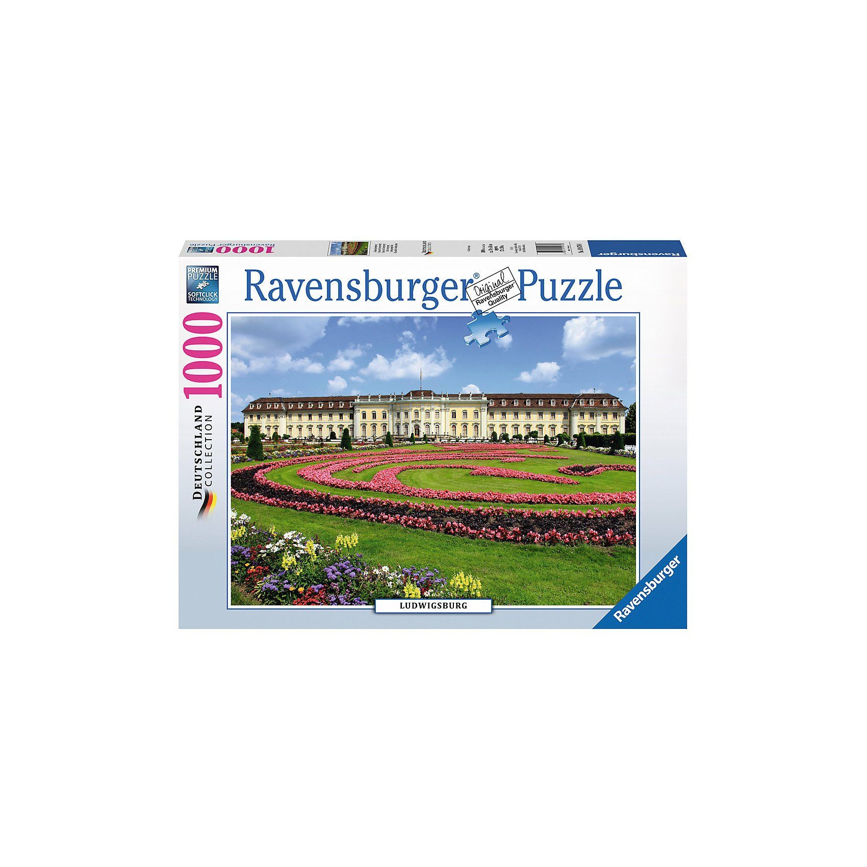 Ravensburger Puzzle 1000 Teile, 70x50 cm, Schloss Ludwigsburg