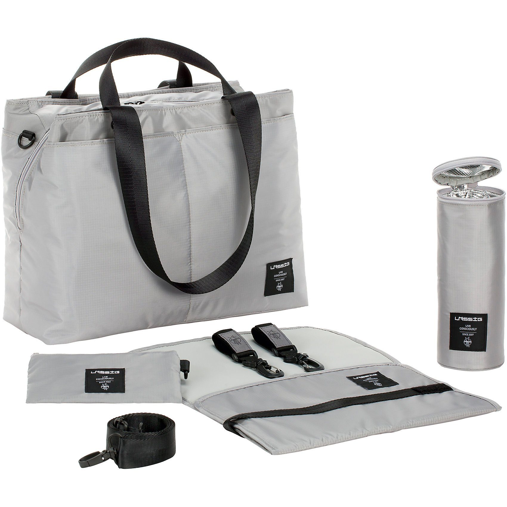Lässig Wickeltasche Bente Bag, Greenlabel, grey