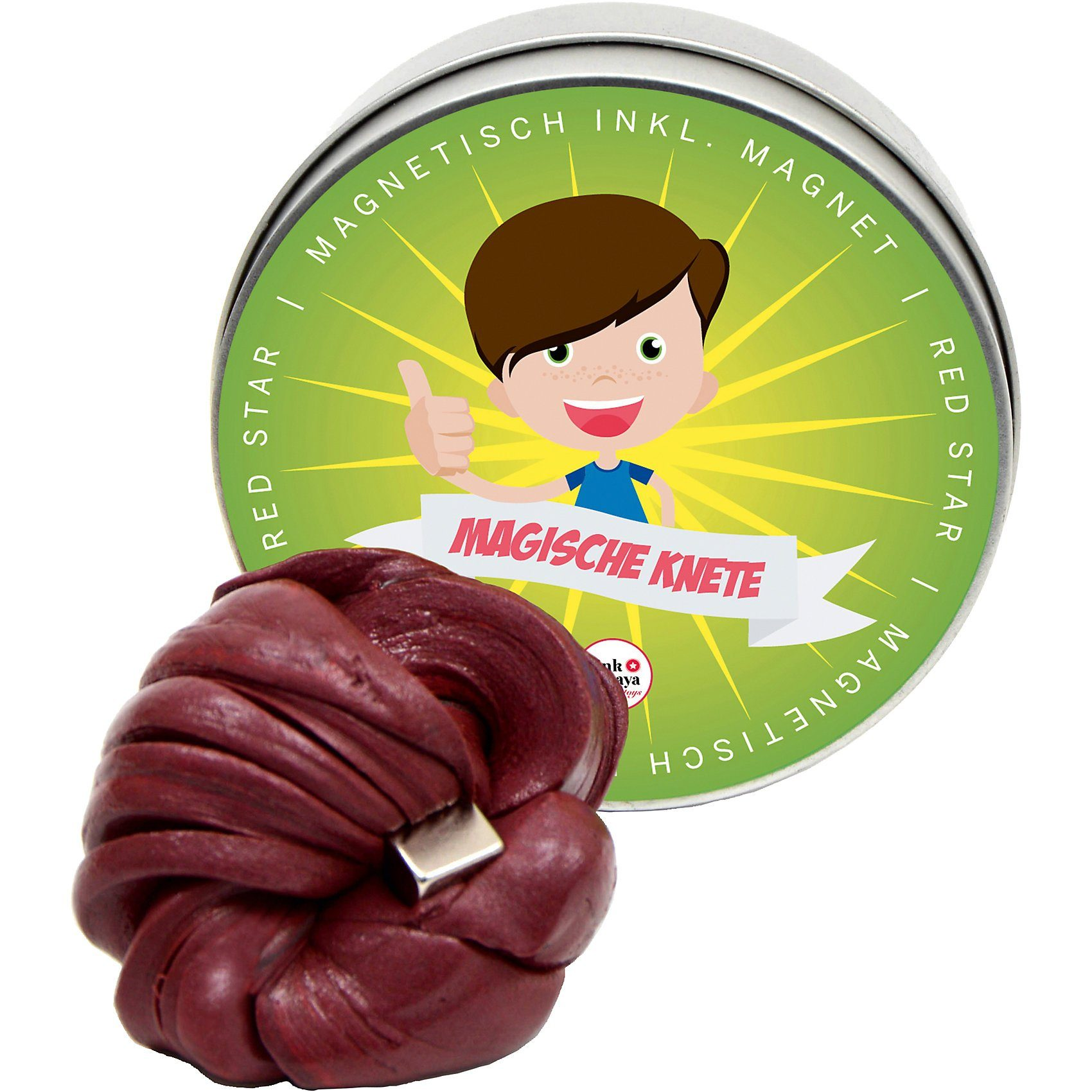 Pink Papaya Magische Knete magnetisch Red Star