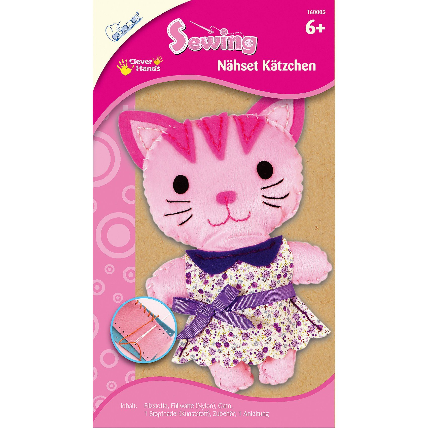 MAMMUT Spiel und Geschenk Nähset Kätzchen