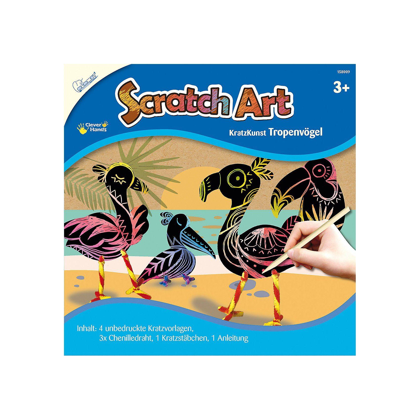MAMMUT Spiel und Geschenk Scratch Art Tropenvögel