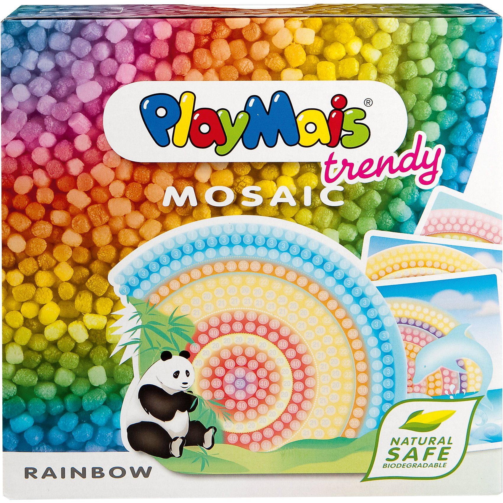 PlayMais TRENDY MOSAIC Rainbow, 3.000 Maisbausteine