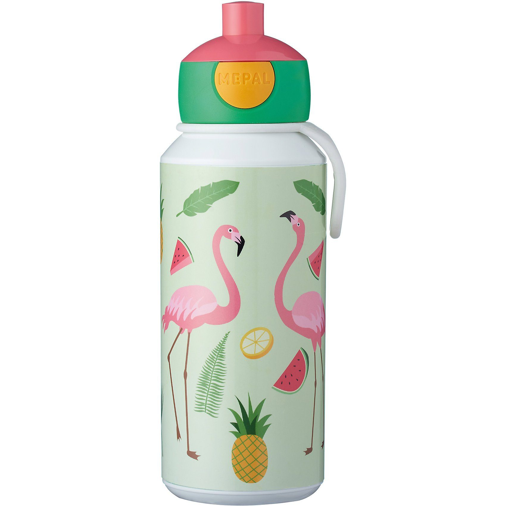 Rosti Mepal Trinkflasche pop-up campus 400 ml, Tropical Flamingo