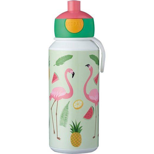 Rosti Mepal Trinkflasche pop-up campus 400 ml, Tropical Flamingo