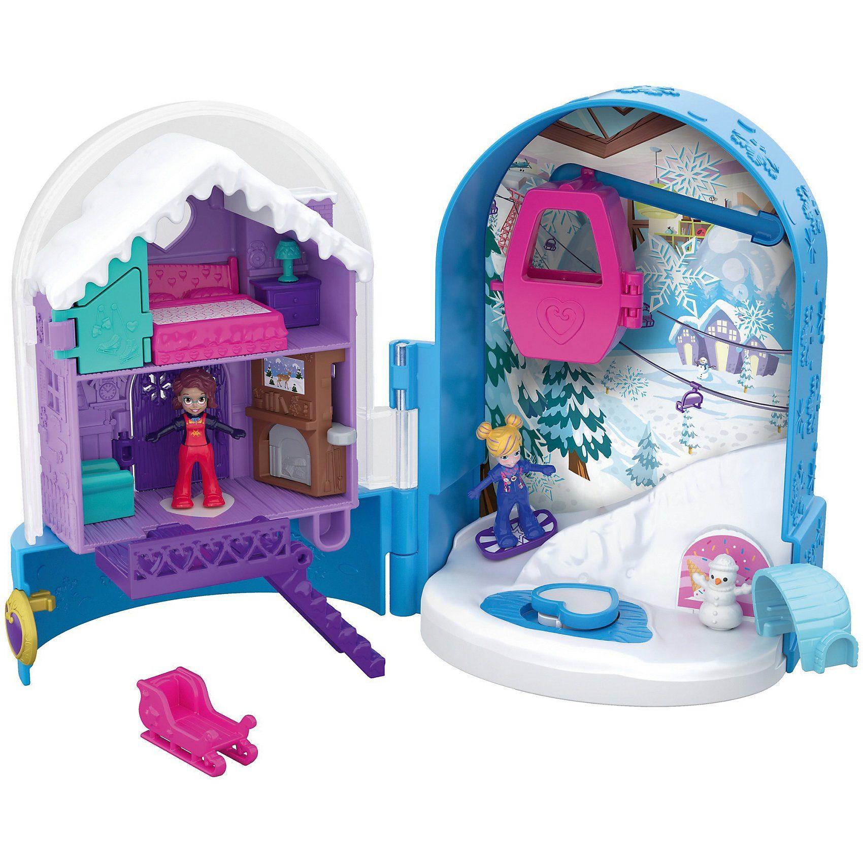 Mattel® Polly Pocket Pocket World Schneespaß Schatulle