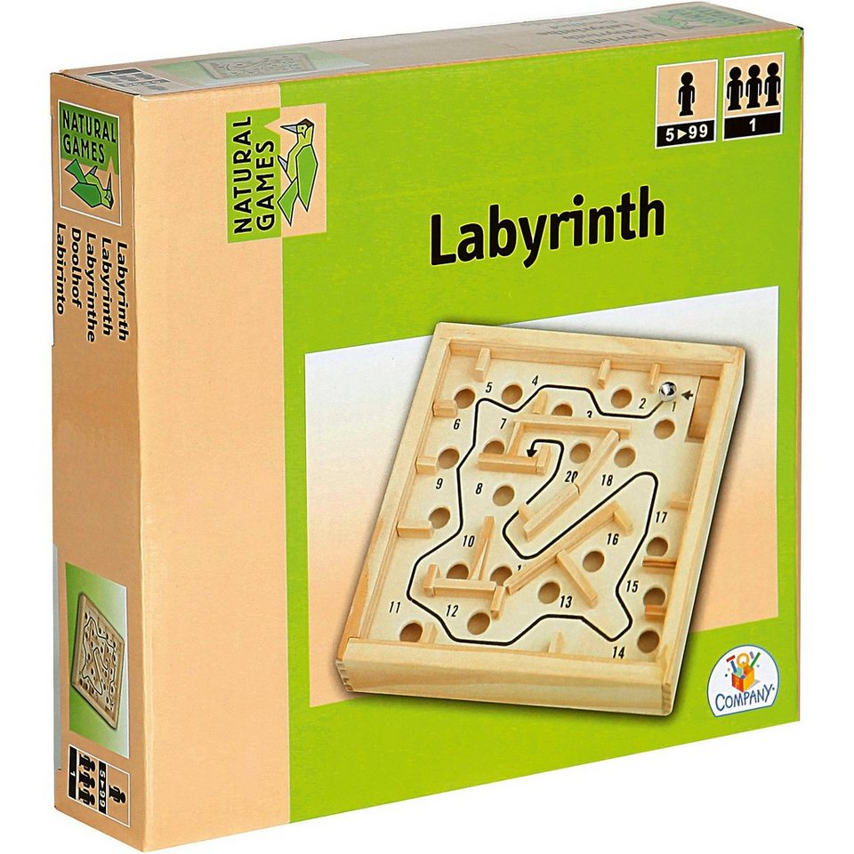 Natural Games Holz Labyrinth 12x12cm online kaufen
