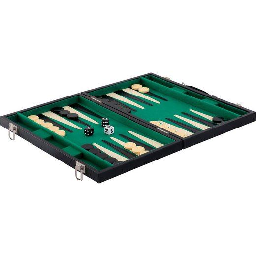 Natural Games Backgammon Kunstleder 47 x 37 cm