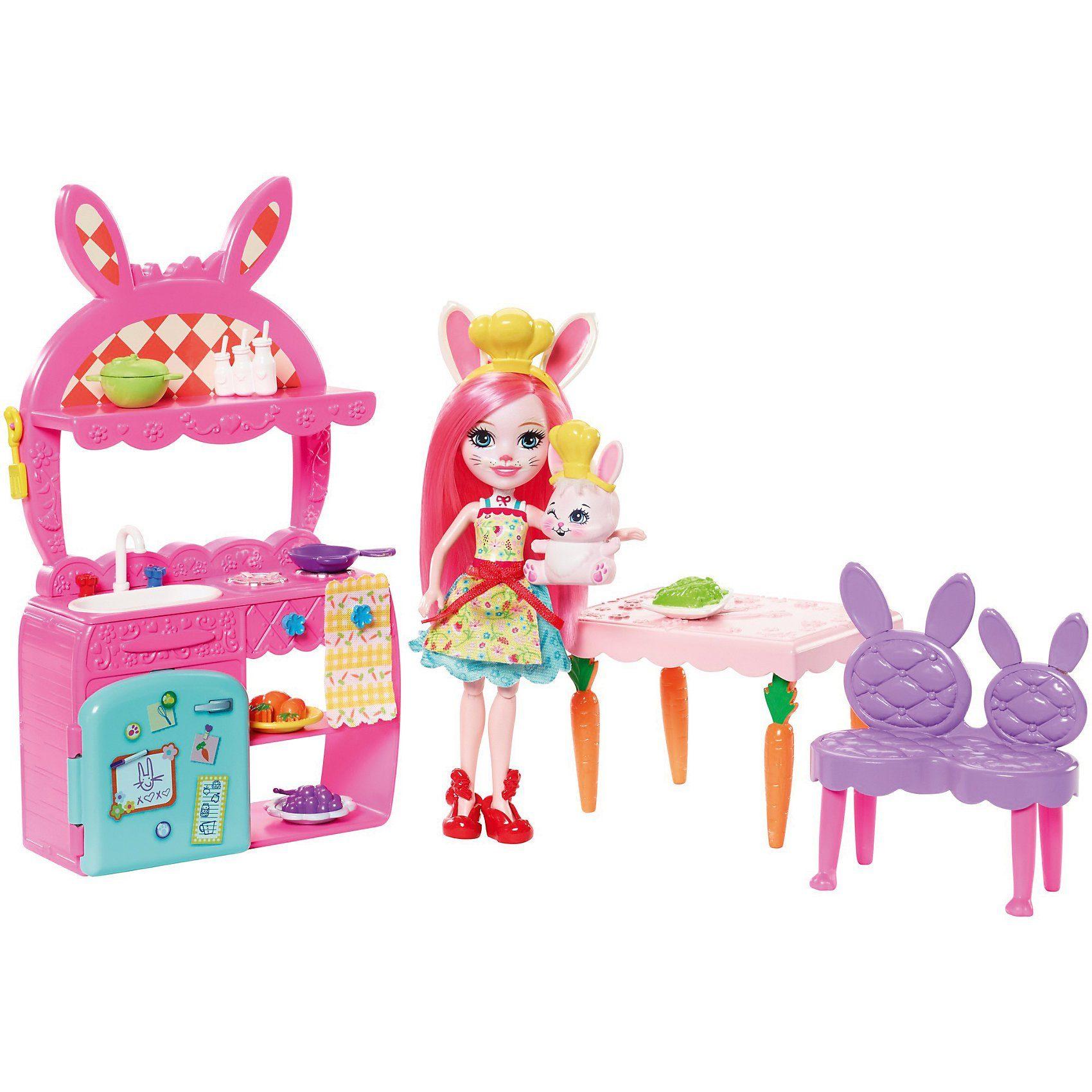 Mattel® Enchantimals Bree Bunny und Twist Küche