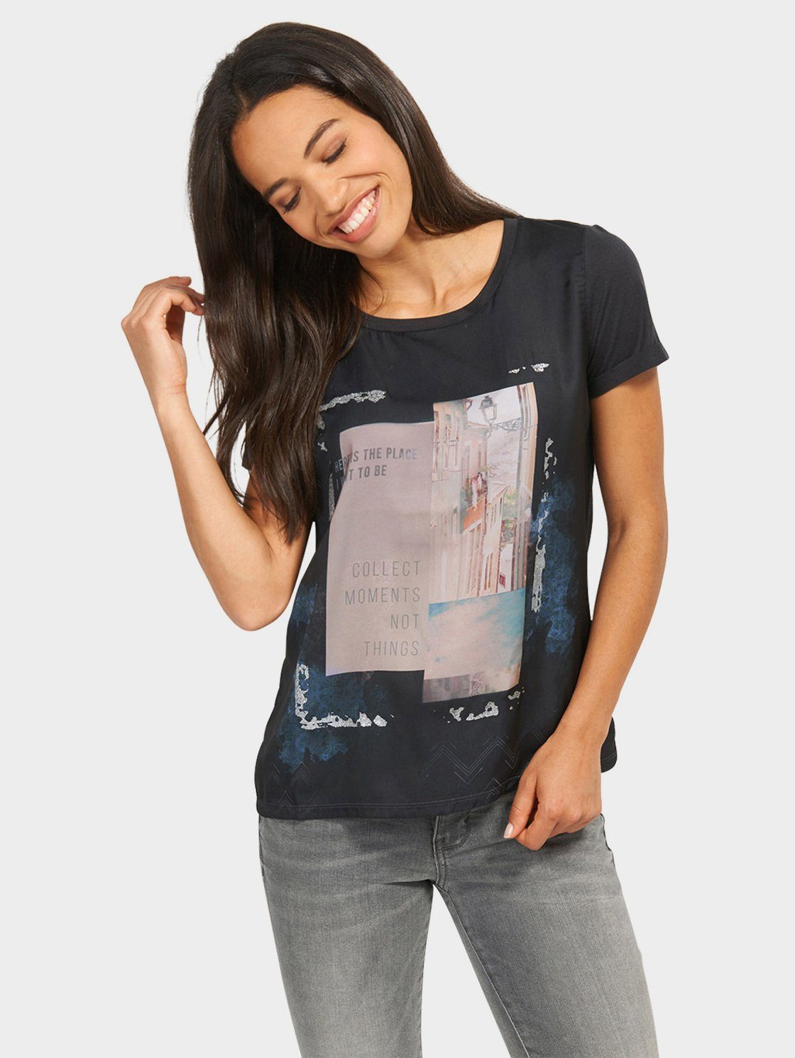 Tom Tailor T-Shirt »Loose-Fit mit Artwork«