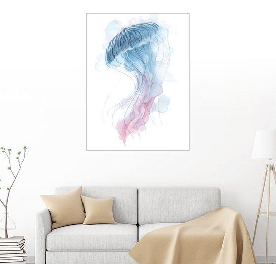 Posterlounge Wandbild - Déborah Maradan »Watercolor Jellyfish«