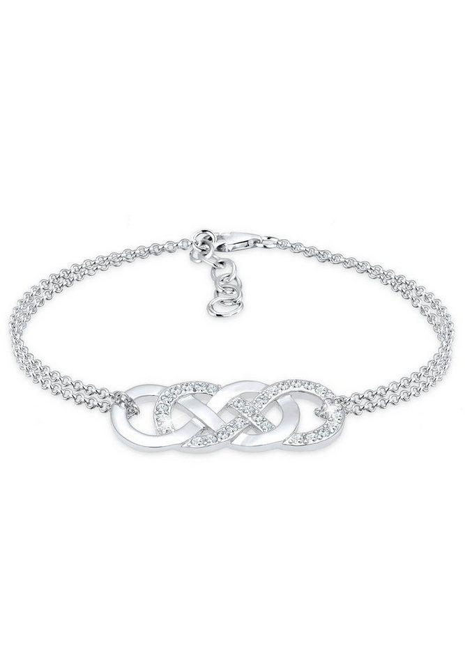 elli armband infinity liebe swarovski kristalle 925 silber online kaufen otto. Black Bedroom Furniture Sets. Home Design Ideas
