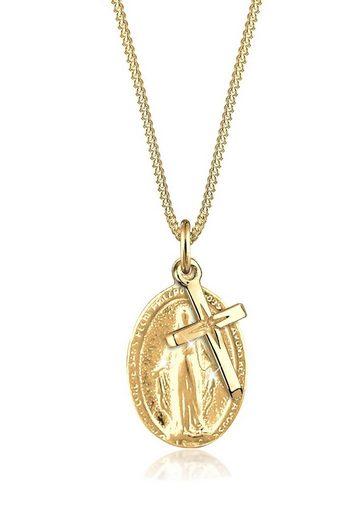 Elli Collierkettchen »Marienbild Kreuz Konfirmation Kommunion 925 Silber«