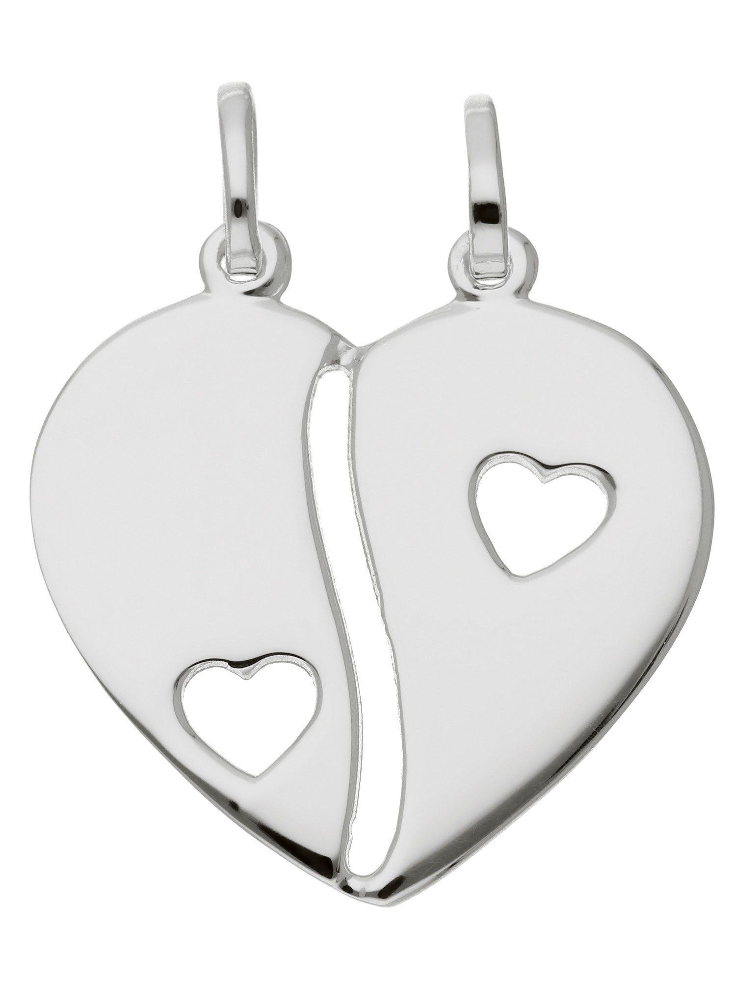 Adelia´s Kettenanhänger »Silber Anhänger«, Herz