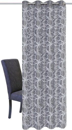Vorhang »LENNY«, HOME WOHNIDEEN, Ösen (1 Stück), HxB: 245x140, Dekostoff Jacquardgemustert