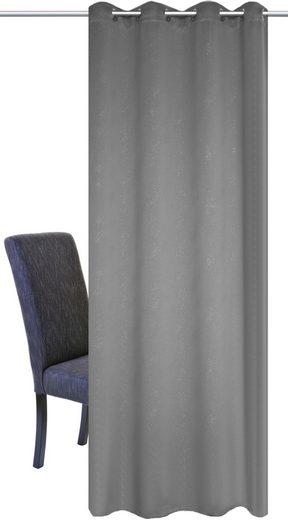 Vorhang »UNIVERSUM«, HOME WOHNIDEEN, Ösen (1 Stück), Verdunklungsschal mit Glitzerdruck