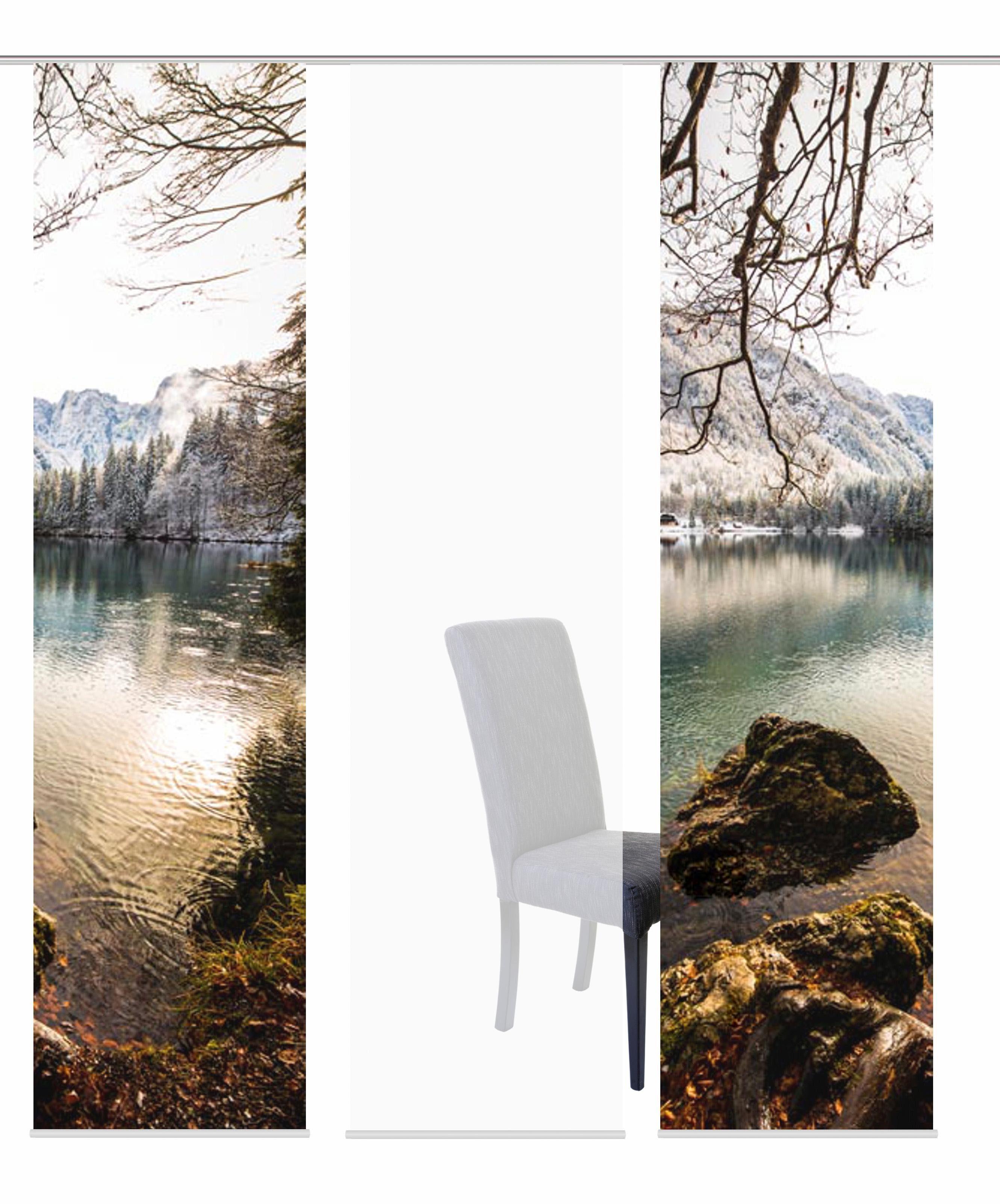 Schiebegardine »3ER SET MOUNT«, HOME WOHNIDEEN, Paneelwagen (3 Stück), Schiebevorhang 3er Set Digitaldruck