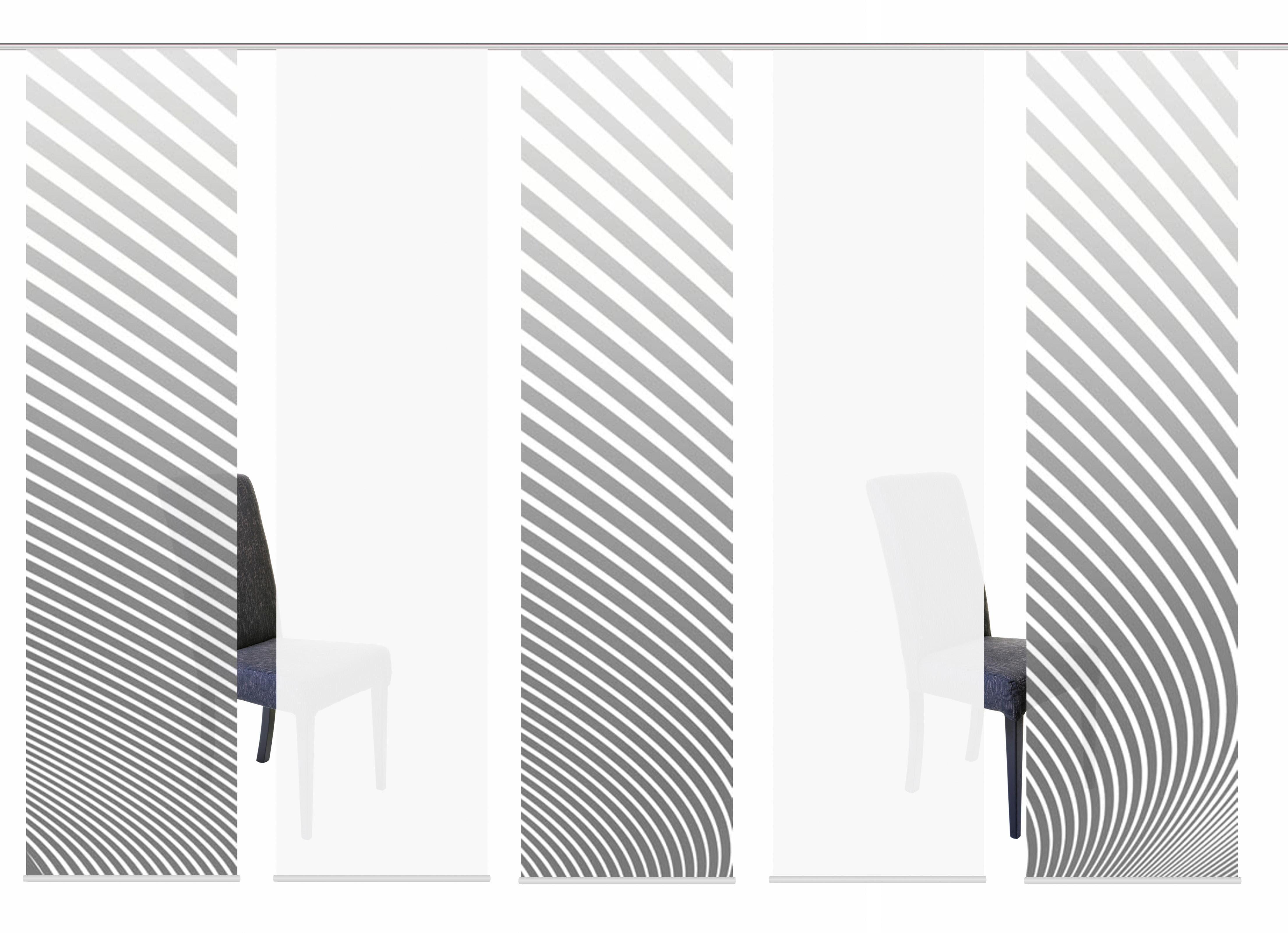 Schiebegardine »5ER SET STRIPE«, HOME WOHNIDEEN, Paneelwagen (5 Stück), Schiebevorhang 5er Set Digitaldruck
