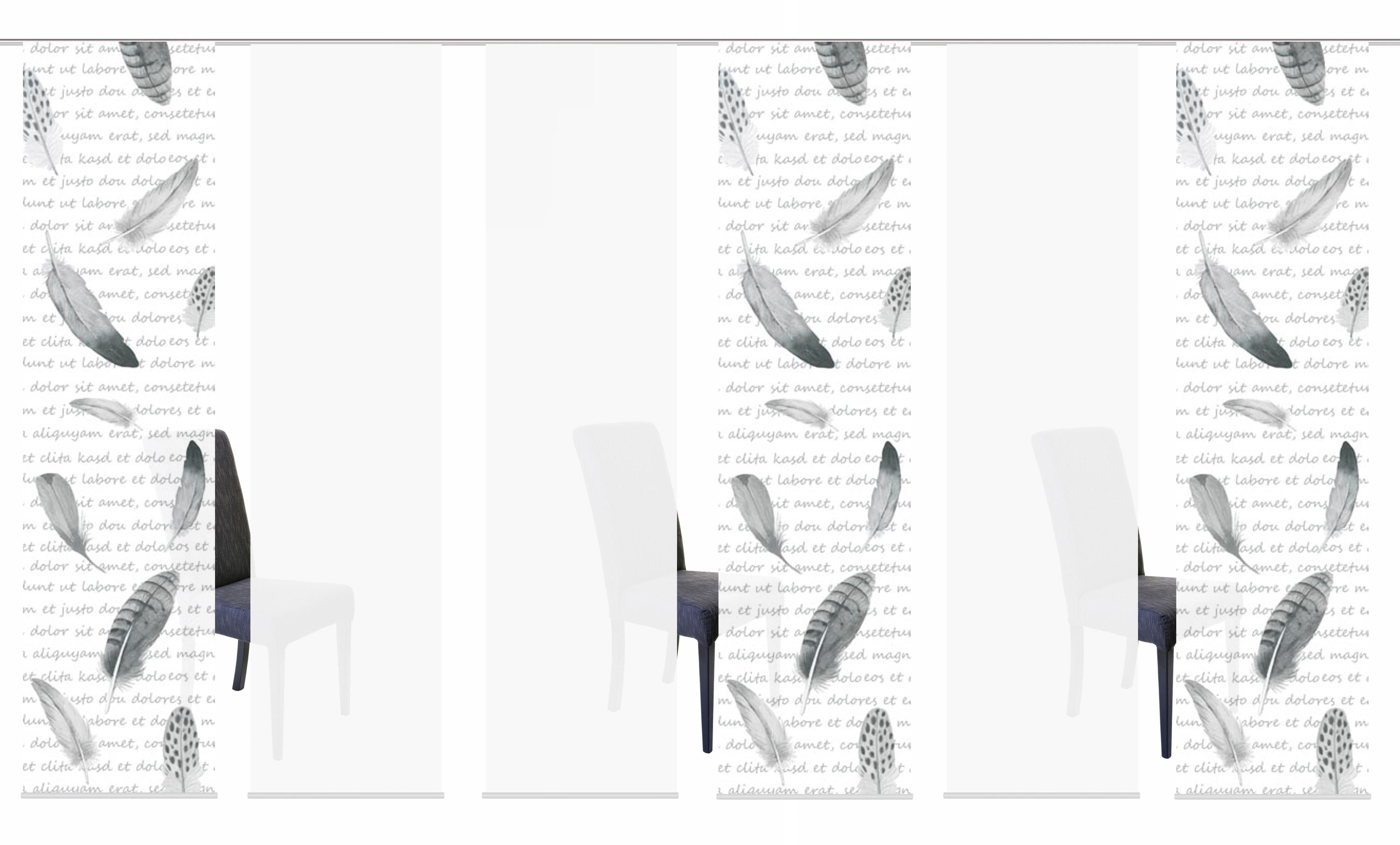 Schiebegardine »6ER SET FEDO«, HOME WOHNIDEEN, Paneelwagen (6 Stück), Schiebevorhang 6er Set Digitaldruck