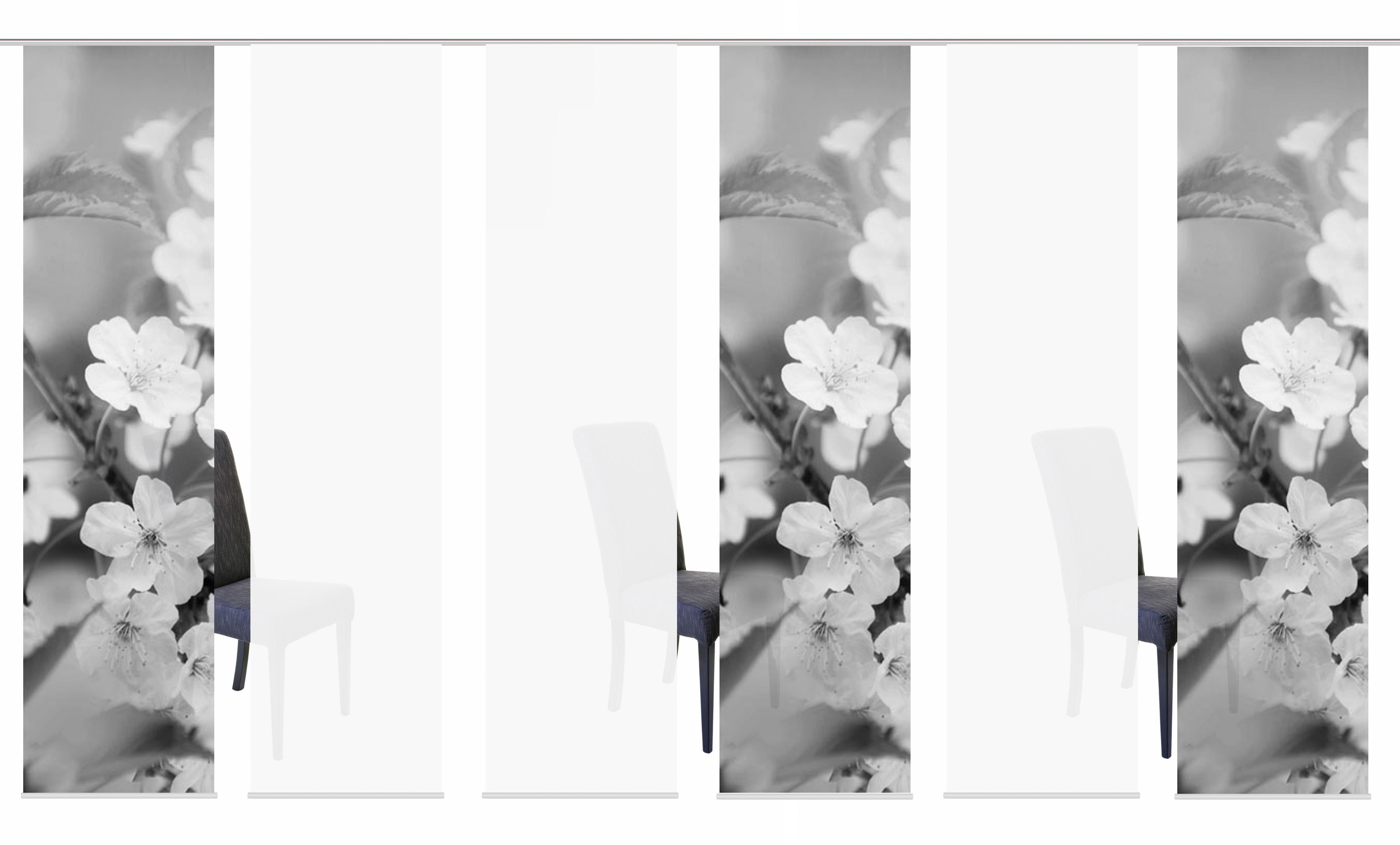 Schiebegardine »6ER SET NILA«, HOME WOHNIDEEN, Paneelwagen (6 Stück), Schiebevorhang 6er Set Digitaldruck
