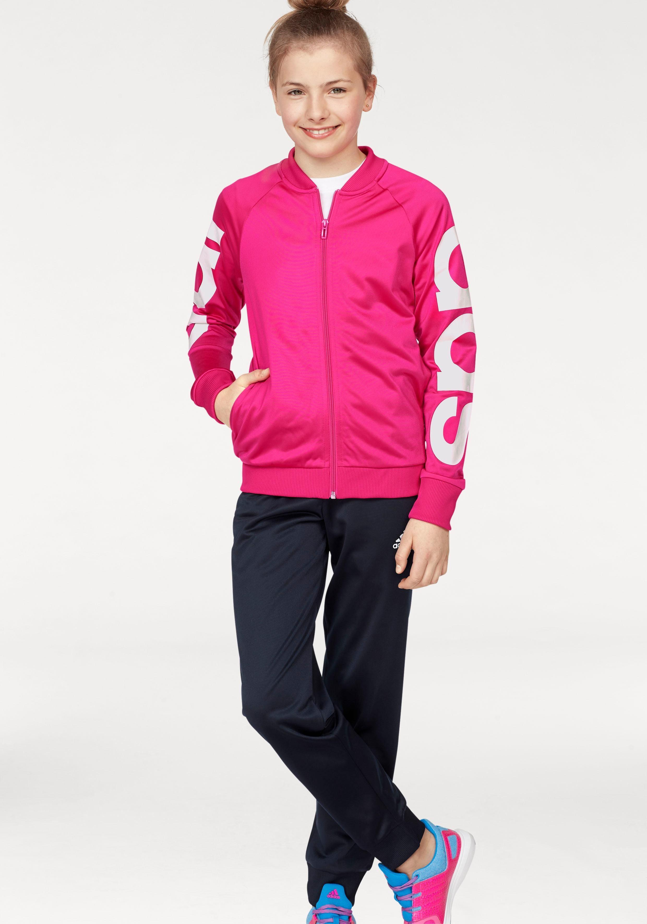 ADIDAS Anzug mädchen pinkschwarz original Größe 18 24